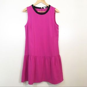 Halogen Fuchsia Drop Waist Shift Dress